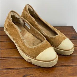 UGG Neema Dark Tan Suede Sneaker Flat BIN2